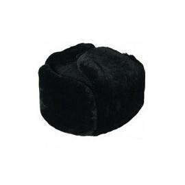 Шапка нат. мех (овчина) черная, верх - сукно
