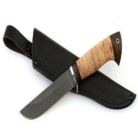 Нож Тунец сталь Х12МФ, рукоять береста