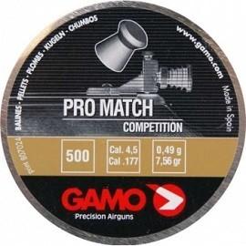 Пули пневматические GAMO Pro Match 4,5 мм 0,49 грамма (500 шт.)