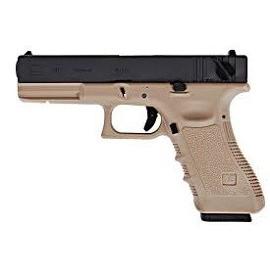 Страйкбольный пистолет WE Glock 18C Gen.4 TAN GGBB (GP617B (TAN)