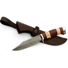 Нож Дельфин сталь ХВ-5 Рукоять Карельская береза бубинга