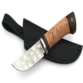 Нож Сурок сталь D2, рукоять береста